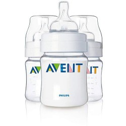 AVENT Classic 4 oz Cloudy (3 Bottle Pack)