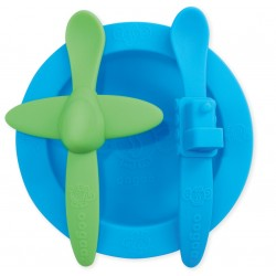 Oogaa Silicone Mealtime Set - Blue