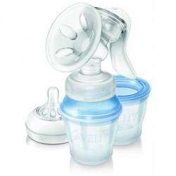 AVENT Comfort Single Manual Breast Pump with Cups