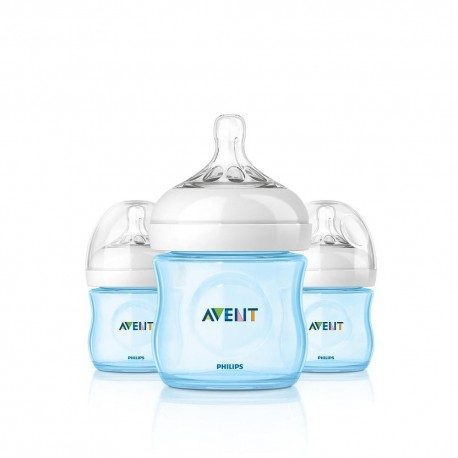 AVENT Natural 4 oz (3 Bottle Pack) - Blue