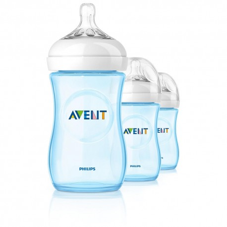 AVENT Natural Blue 9 oz (3 Bottle Pack)