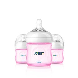 AVENT Natural 4 oz (3 Bottle Pack) - Pink