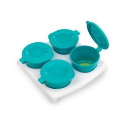 Tommee Tippee Explora Pop Up Freezer Pots and Tray - Blue