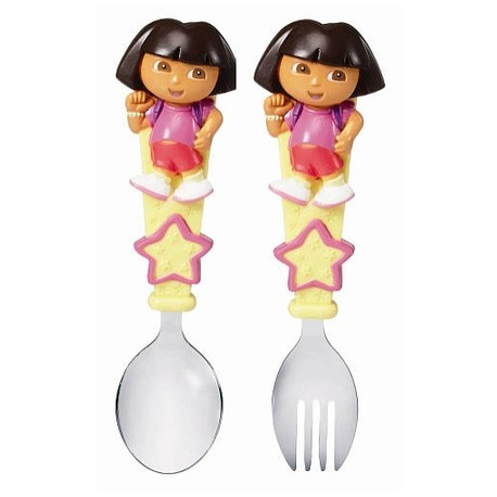 Munchkin Dora Toddler Fork and Spoon