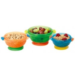 Munchkin Stay-Put Suction Bowls - 3 Bowls