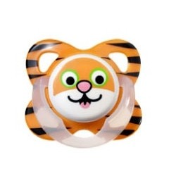 Tommee Tippee - Closer To Nature Fun Silicone Soother 9-18 months - Tiger
