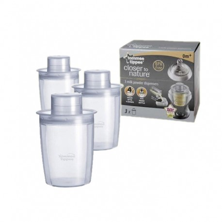 Tommee Tippee Milk Powder Dispenser - 3 Pack