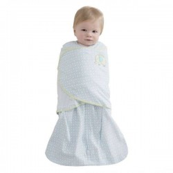 HALO® SleepSack® Swaddle Cotton Blue Diamond - Small