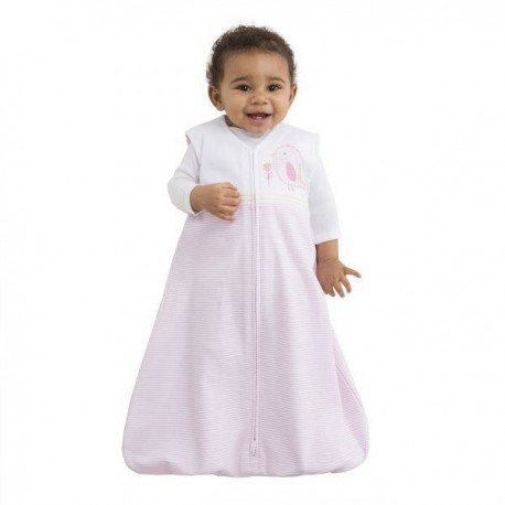 HALO® SleepSack® Cotton Applique Pink Stripe - Small