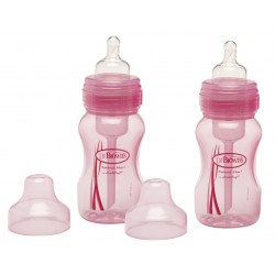 Dr Browns Special Edition (8oz) 240ml Wide Neck Twin Pack Bottle - Pink