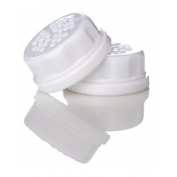Lifefactory Baby Bottle Flat Cap Set (2 white caps)