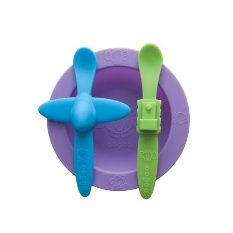 Oogaa Silicone Mealtime Set - Purple
