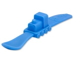 Oogaa Train Silicone Spoon - Blue