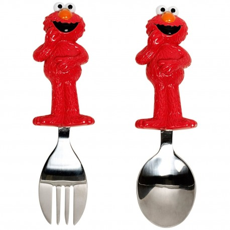 Munchkin Sesame Street Toddler Fork and Spoon Elmo