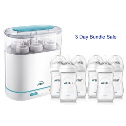 Bundle 2: Avent Sterilizer + 6 Avent Natural Range 9 Oz Bottles