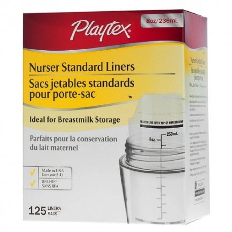 Playtex Pre-Sterilized Disposable BPA Free Bottle Liners - 8oz, 125 pieces