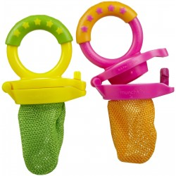 Munchkin Fresh Food Feeder, 2 Pack - Green / Pink