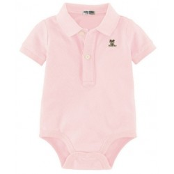 Baby Onesie with Collar - Light Pink