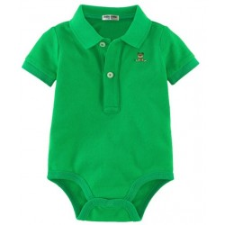 Minizone Baby Romper with Collar - Green