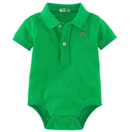 Baby Onesie with Collar - Lake Blue