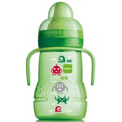 MAM Trainer Bottle Monster Design Spout Sippy Toddler Cup - Green