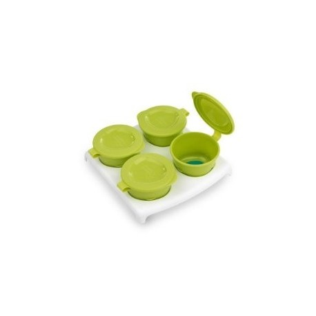 Tommee Tippee Explora Pop Up Freezer Pots and Tray - Green