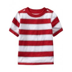 Old Navy Striped Crew-Neck Tees, Red Stripe