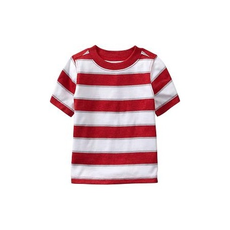 Old Navy Striped Crew-Neck Tees, Red