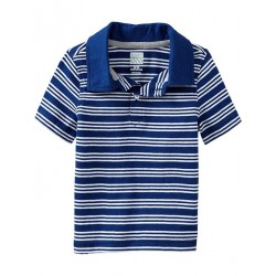 Old Navy Striped Jersey Polo Shirt, In The Navy