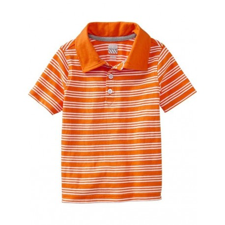 Old Navy Striped Jersey Polo Shirt, Golden Poppy