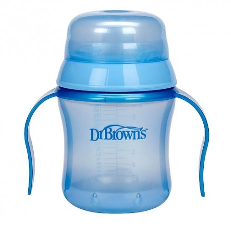 Dr. Brown's BPA Free Soft Spout Training Cup 6 oz - Blue