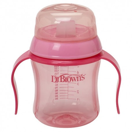 Dr. Brown's BPA Free Soft Spout Training Cup 6 oz - Pink