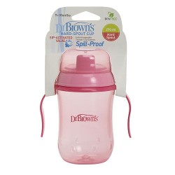 Dr Brown Hard Spout Cup 9oz / 270 mL 9m+ - Pink