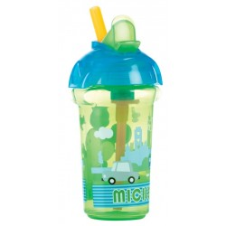 Munchkin Disney Click Lock Flip Straw Cup 9oz, Green Blue
