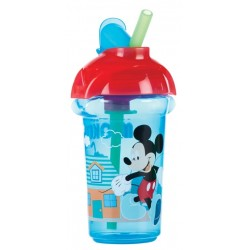Munchkin Disney Click Lock Flip Straw Cup 9oz, Blue Red