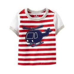 Old Navy Applique-Graphic Striped Tees for Baby, Red