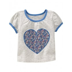 Old Navy Printed Shirt for Baby, Heart Top