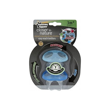 Tommee Tippee Closer to Nature stage 1 Teether - Blue