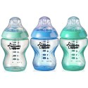 Tommee Tippee Closer To Nature Color My World 9 oz Bottles (3 Bottles), Boy