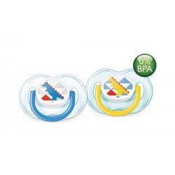 AVENT Fashion Soothers, 0-6 months, Dino