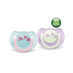 AVENT Fashion Soothers, 6-18 months, Birds