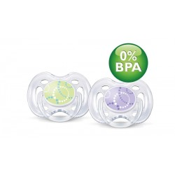 AVENT Contemporary Freeflow Pacifier, 0-6 months, 2 Pack