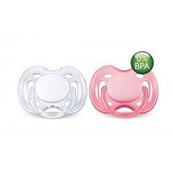 AVENT Freeflow Pacifier, 0-6 months Pink & White, 2 Pack