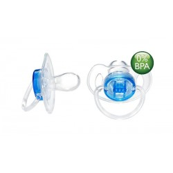 AVENT Translucent Soother Pacifier, 6-18 Months, Blue