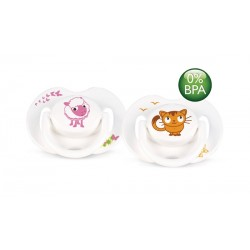 AVENT Animals Soothers 0-6 months, 2 Pack
