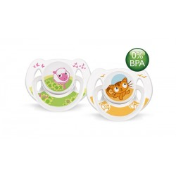 AVENT Animals Soothers 6-18 months, 2 Pack