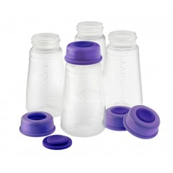 Lansinoh Plastic Milk Storage Bottles (4 Pack)