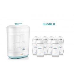 Bundle 8: Avent 2 in 1 Sterilizer + 6 Avent Natural 9oz Bottle