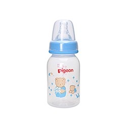 Pigeon RPP Slim Neck Bottle 120 mL, Blue (1 Bottle)