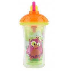 Munchkin Click Lock Insulated Straw Cup 9 oz, Orange